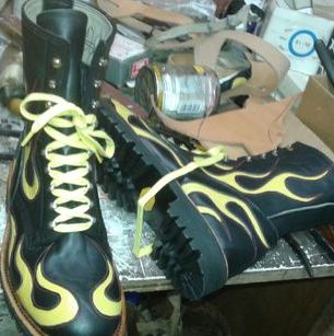 Custom Lather Motorcycle Boots